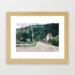Japanese Countryside Framed Art Print