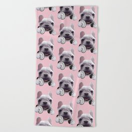 French Bulldog Beach Towel