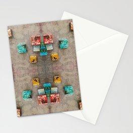 Toppled Ceramic Tiling 2 Stationery Cards