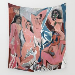 Pablo Picasso - Les Demoiselles d'Avignon 1907 - Artwork for Prints Posters Tshirts Men Women Kids Wall Tapestry