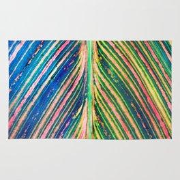 503 - Canna Leaf Abstract Rug