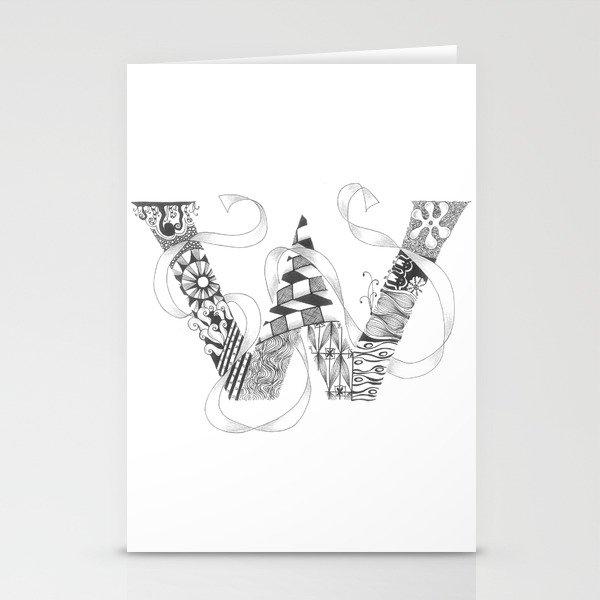 "Zenletter ""W"" Stationery Cards"