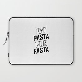 Eat Pasta Run Fasta v2 Laptop Sleeve