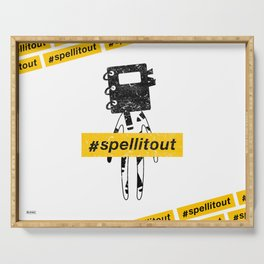 Spell it out ft. Speller Serving Tray