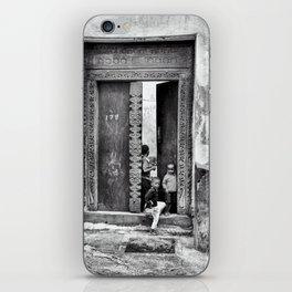 African Kids Playing - Stonetown Zanzibar 3609 iPhone Skin
