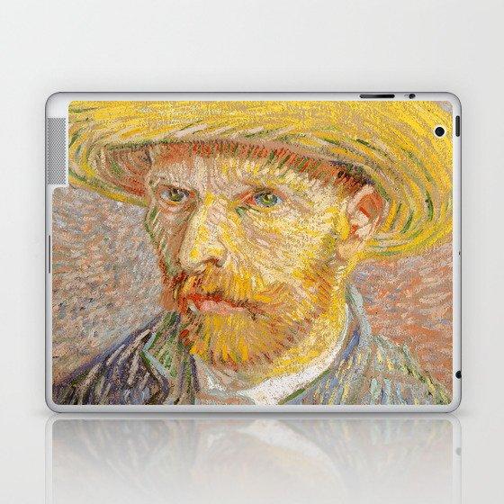 5d1ac123e0c Vincent van Gogh - Self-Portrait with a Straw Hat - The Potato Peeler  Laptop   iPad Skin