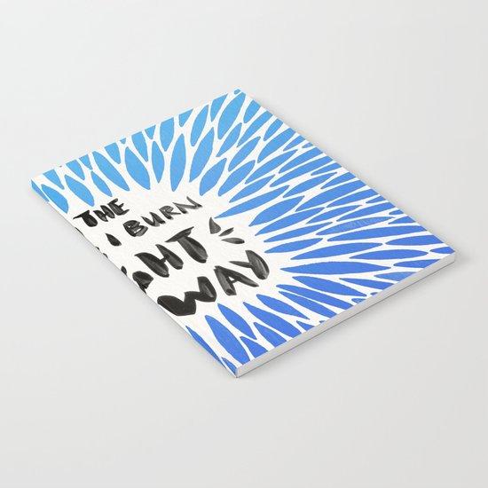 Bridges Burned – Blue Ombré Notebook