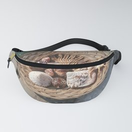 basket of shells Fanny Pack