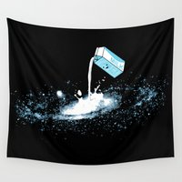 milky way Wall Tapestries featuring The Milky Way by Picomodi