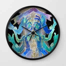 Need A Hand? (in negative) Wall Clock