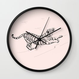 Tiger and Sun I. Wall Clock