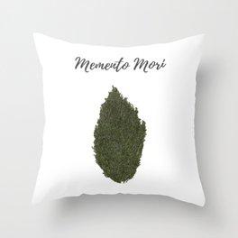 Remember to die: memento mori Throw Pillow