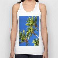 coconut wishes Tank Tops featuring Coconut Peaks by Tom Lee