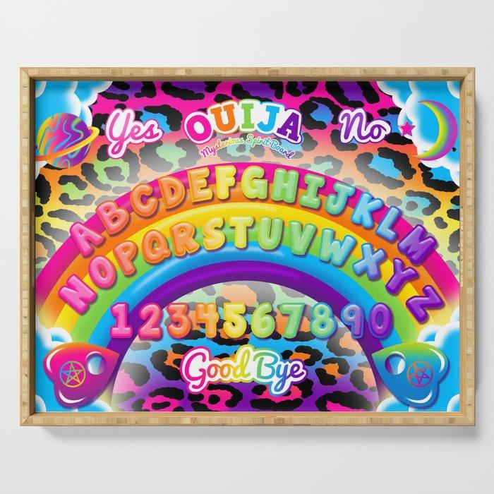 1997 Neon Rainbow Ouija Board Serving Tray