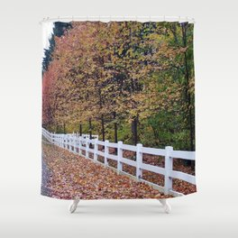 Decorative Tree Line Shower Curtain