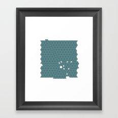 #426 Tectonic activity – Geometry Daily Framed Art Print