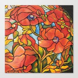 Red Poppy Lamp Canvas Print