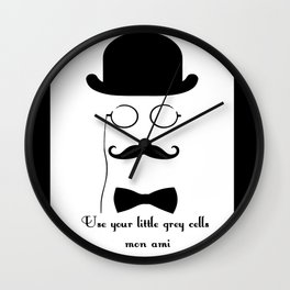 Hercules Poirot Quotes!! Wall Clock