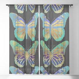 Pop Art Butterflies Sheer Curtain