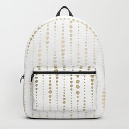 NYC Nights Gold Polka Dot Stripes Backpack