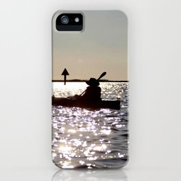 Watercolor People in Nature, NSS, Children 10, Janes Island, Maryland iPhone Case