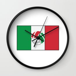 Mexican National Team Flag Football Design Wall Clock