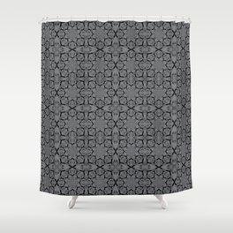 Sharkskin Geometric Shower Curtain