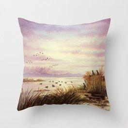 Duck Hunting Companions Throw Pillow