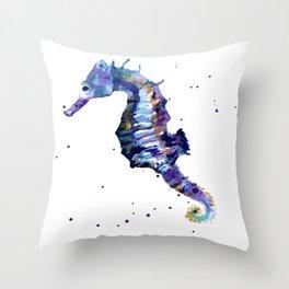 Seahorse Splendor Throw Pillow