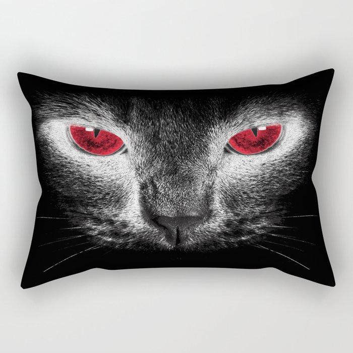 Red Eyes Rectangular Pillow