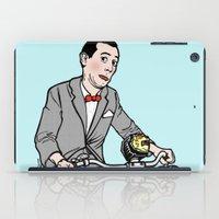 pee wee iPad Cases featuring Pee Wee Herman by Michael Scarano