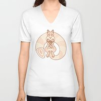 mom V-neck T-shirts featuring Mom by Berneri