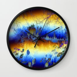 ABSTRACT - My blue heaven Wall Clock
