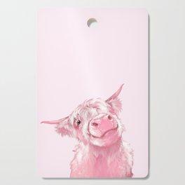 Highland Cow Pink Cutting Board