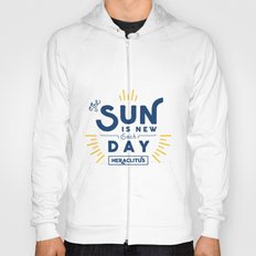 Heraclitus - The sun is new each day Hoody