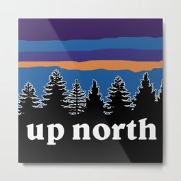up north, blue & purple Metal Print