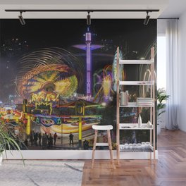 Fairground Attraction panorama Wall Mural