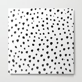 Dalmatian dots black Metal Print