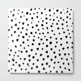 Dalmatian dots black Metal Print