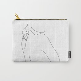 Hand on back line drawing - Isla Carry-All Pouch