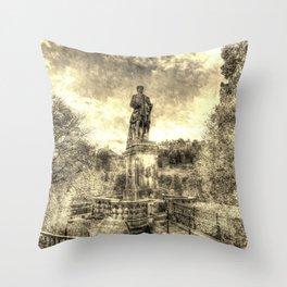 Allan Ramsey And Edinburgh Castle Vintage Throw Pillow