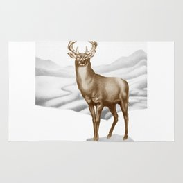 White-tailed Stag 2 Rug
