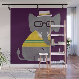Rodney the preppy elephant Wall Mural