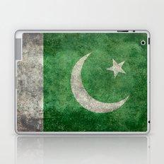 Pakistani flag, vintage retro style Laptop & iPad Skin