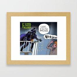 """""""Luke, je suis ton employeur."""" Framed Art Print"""