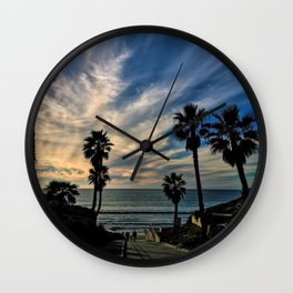 Beach Palm Trees Wall Clock