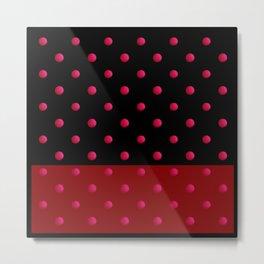 Retro . The polka dot pattern. Metal Print