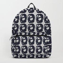 Dark blue entangled shapes pattern Backpack