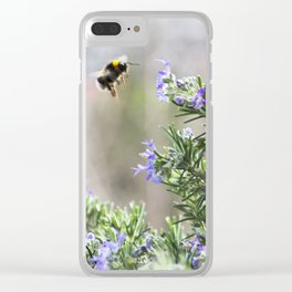 bumble bee flight Clear iPhone Case