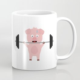Fitness Pig with Weights Bjzsl Coffee Mug